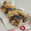 Stock Photo: Puff Pastry Twists For Saint Valentine