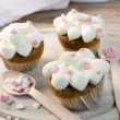 Pink Hearts Muffins — Stock Photo