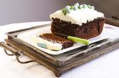 Amaranth Chocolate Brownie Cake — Stock Photo