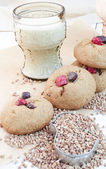 Homemade Buckwheat Cookies — Stock Photo