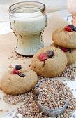 Homemade Buckwheat Cookies — Stock Photo