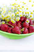 Strawberries and Chamomiles — Foto Stock