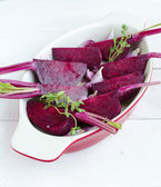 Beets ready for roasting — Stock Photo