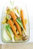 Fresh vegetables redy for roasting — Stock Photo