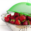 Stock Photo: Strawberries in colander