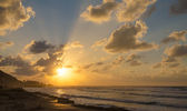Sunset on the Mediterranean, Bat Galim, Haifa, Israel, Middle East — ストック写真