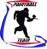 Paintball Logo — Stock Vector
