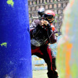 Paintball player in action — Stock Photo #17998897