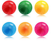 Illustration of balls of different color on a white background — Stock Vector
