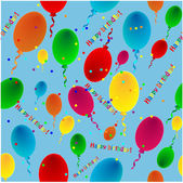 Varicoloured balloons on a blue background — Vecteur