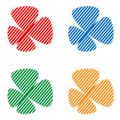 白い背景の上の varicoloured の抽象的な蝶 — ストックベクタ