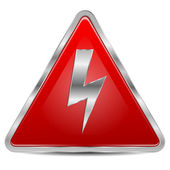 High voltage sign on a white background — Stock Vector