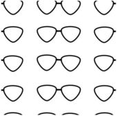 Seamless pattern of black glasses on a white background — Stock Vector