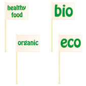 Set of banners on the theme of ecology — Stock Vector
