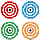 Set of varicoloured targets on a white background — Stock Vector