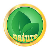 Emblem of natural products — Stock Vector
