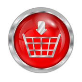 Icon button to shop online isolated on white background — Stock Vector