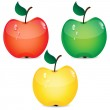 Set of apples on a white background — Stock Vector #26980459