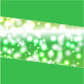 Abstract luminous background of green color — Stock Vector