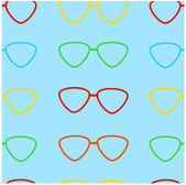 Varicoloured glasses on a blue background — Stock Vector