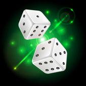 Vektor illustration av en bakgrund med casino element — Stockvektor