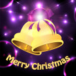 Christmas background.christmas decorations in the blazing neon b — Imagen vectorial