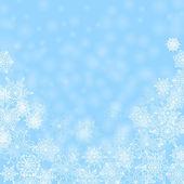 Boże narodzenie streszczenie background.white płatki śniegu na niebieski backgro — Wektor stockowy
