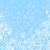 Christmas abstract background.white snowflakes on a blue backgro — Vector de stock