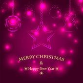 новогодний фон с рождественские украшения.рождественская елка — Cтоковый вектор