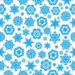 Stock Vector: Seamless pattern with blue snowflakes on white background.wi