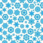 Beyaz bir background.wi üzerinde mavi kar taneleri ile seamless modeli — Stok Vektör
