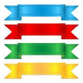 多彩 ribbons.elements décor.vector 为一套 — 图库矢量图片