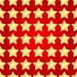 Seamless pattern of gold stars on a red background.holiday backg — Stock Vector