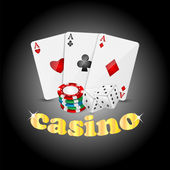 Casino background.items for the casino on a dark background.vect — Stock Vector