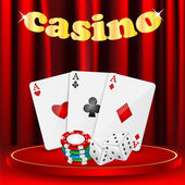 Casino background.set of objects for a casino on a background of — Stock Vector