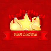 Christmas Holiday Greetings.Christmas background.Christmas golde — Stockvektor