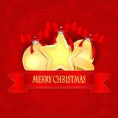 Christmas Holiday Greetings.Christmas background.Christmas golde — Stock Vector