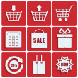 Shopping icons.set of icons for online shop.vector — Stock Vector #34344511