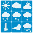 Weather and Climate.set of meteo icons.vector — Stock Vector