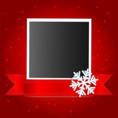 Christmas background.photo on a red background decorated with wh — Stock Vector
