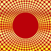 Abstract background of circles.circumference of gold color on a — Stockvector