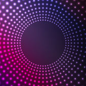 Abstract background of glowing circles.flickering design of circ — Stock Vector