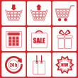 Shopping icons.set of icons for online shop.vector  — Imagens vectoriais em stock