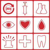 Icons for the hospital.set of medical icons.vector — ストックベクタ