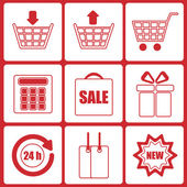 Shopping icons.set of icons for online shop.vector — ストックベクタ
