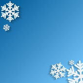 Christmas background.White snowflakes on blue background.backgro — Vector de stock
