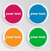 Conjunto de hojas de papel con notas brillantes spots.collection placas — Vector de stock