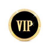 Medal with the word vip isolated on white background.insignia i — Stock Vector