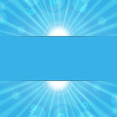 Abstract background.sunbeams on a blue background.eco background — Stock Vector
