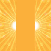 Orange sunny background.sun rays and glare on an orange backgrou — Stock Vector